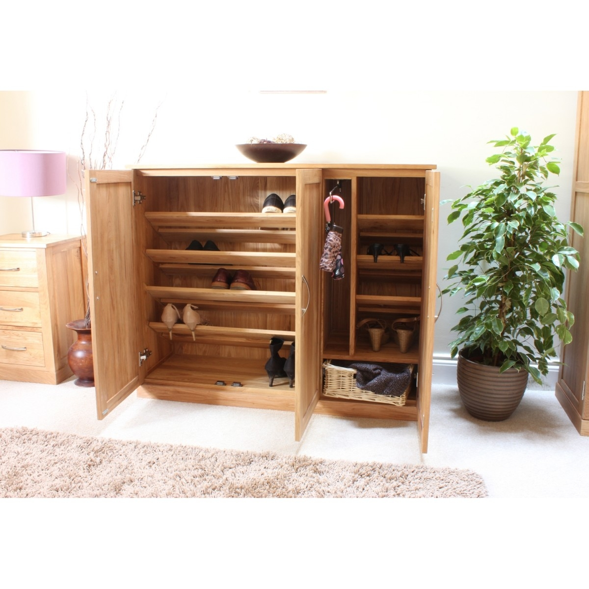 Solid oak shoe cabinet & Oak Shoe Cabinet - Foter