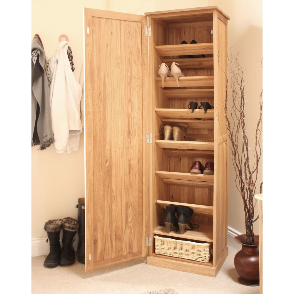 Merveilleux Solid Oak Shoe Storage Cabinet