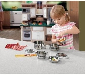 Stainless steel play kitchen set 2