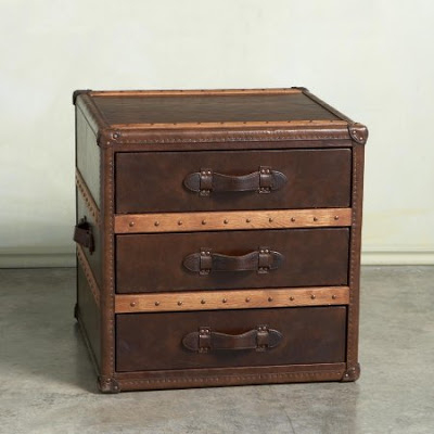 Nice Steamer Trunk End Table