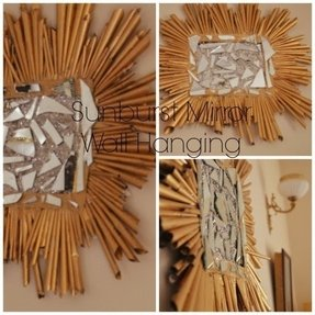 Sunburst wall hanging 16