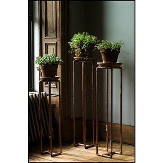 Tall pedestal plant stand