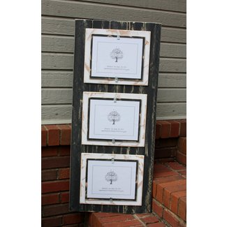 Triple 8x10 picture frame distressed