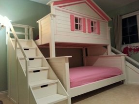 Twin over full bunk bed with slide 1