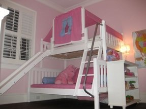 Twin over full bunk bed with slide 3