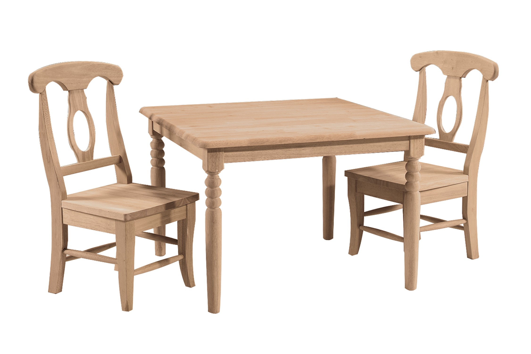 Superbe Unfinished Childrens Table And Chairs