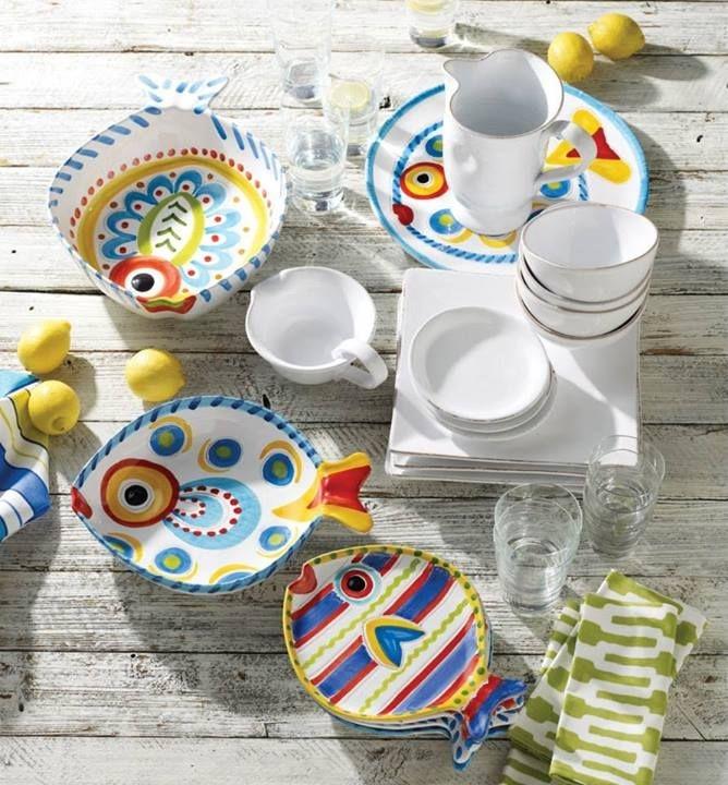 Vietri fish fish dinnerware & Ceramic Fish Plates - Foter