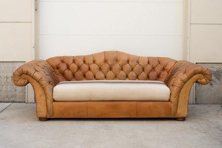 Vintage Camel Back Sofa