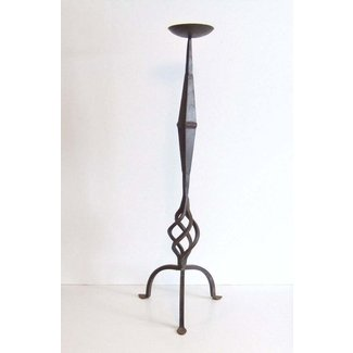 Vintage iron hand forged tall floor