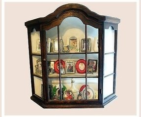 Wall hung display cabinets