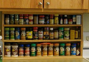Wall hung spice rack 5