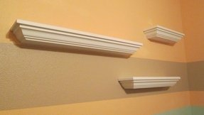 White crown molding shelf