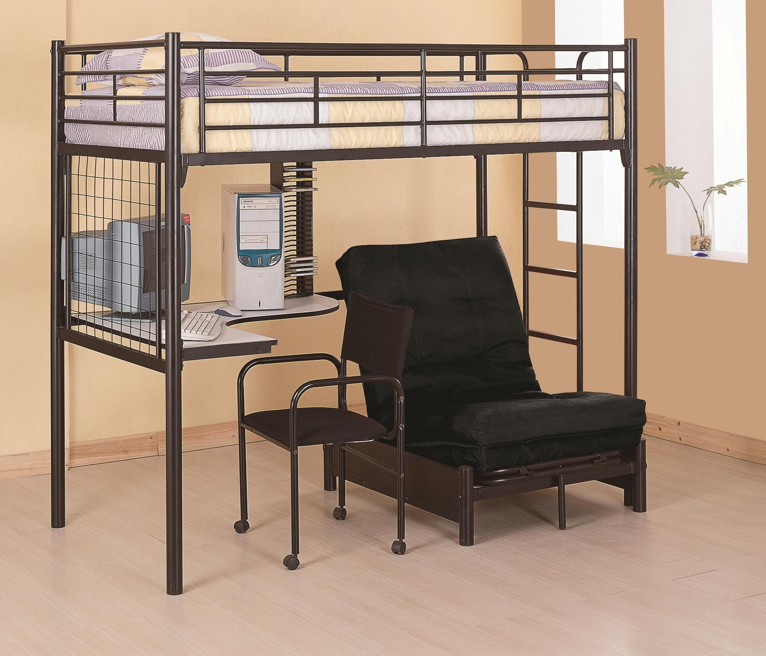white high sleeper with futon loft beds with desk and futon   foter  rh   foter