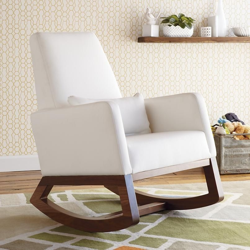 White Leather Joya Rocker In Rockers Gliders 1. Weekend Retreat Rocking  Chair