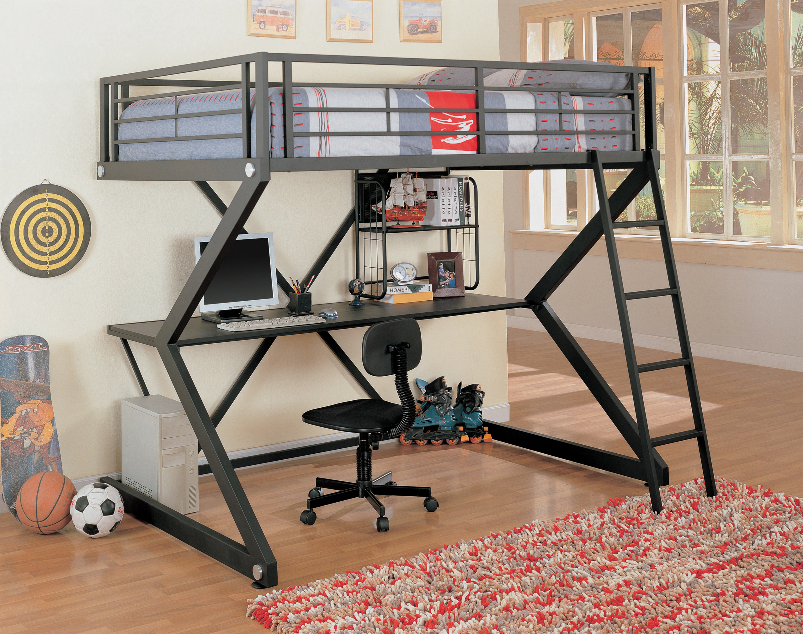 Wildon Home %c2%ae Drew Full Workstation Bunk Bed With Desk