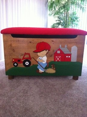 Wooden farmhouse toy