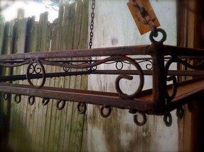 Wrought Iron Hanging Pot Rack 1