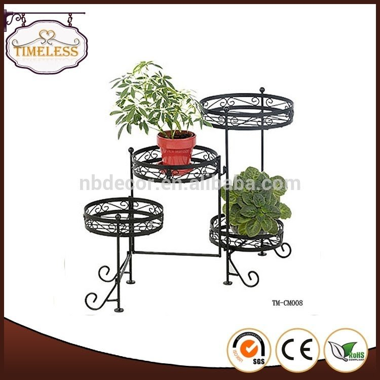 Wrought Iron Spiral Staircase Plant Stand. Metal Tiered Plant Stand Foter