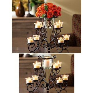 Wrought iron votive candle holder 2