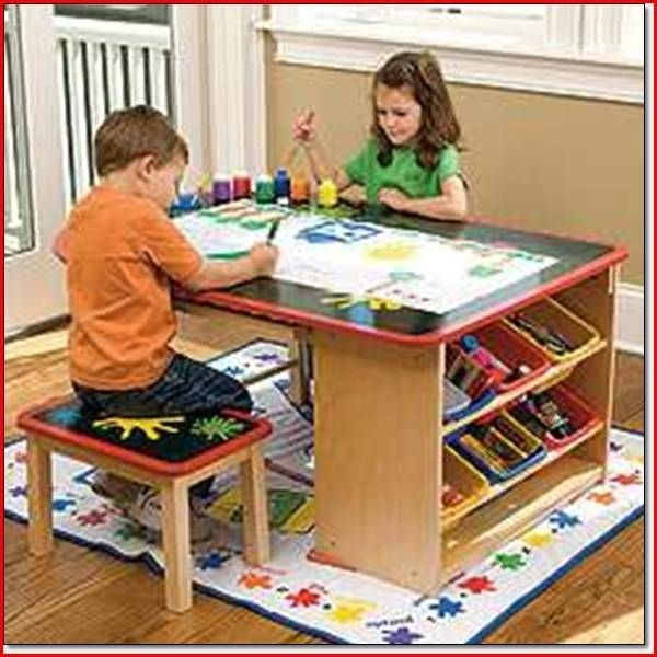 Activity tables for kids with storage 1