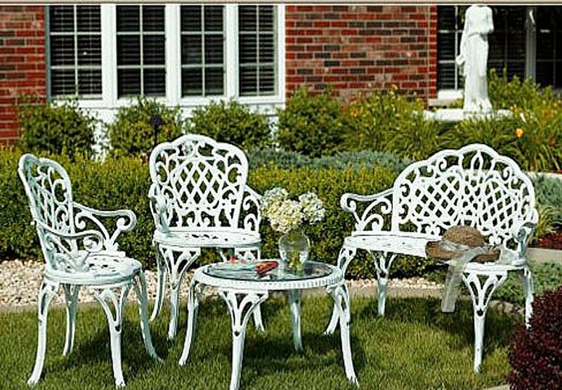 Antique Cast Iron Garden Chairs