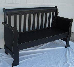 Black Sleigh Crib Foter