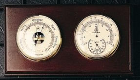 Barometer Thermometer and Hygrometer Color: Oak