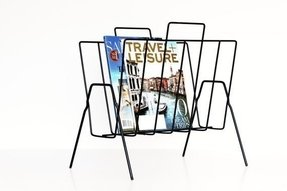 Black Metal Magazine Rack 4