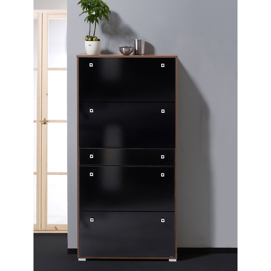 Black Shoe Storage Cabinet 3
