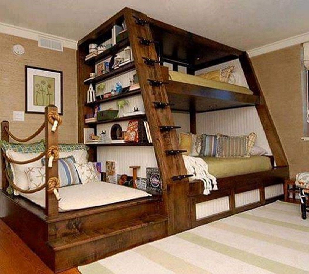 High Quality Bookcase Bunk Bed 5