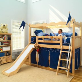 Bunk Bed With Slide And Tent Ideas On Foter