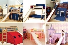 Bunk bed with slide and tent & Bunk Bed With Slide And Tent - Foter