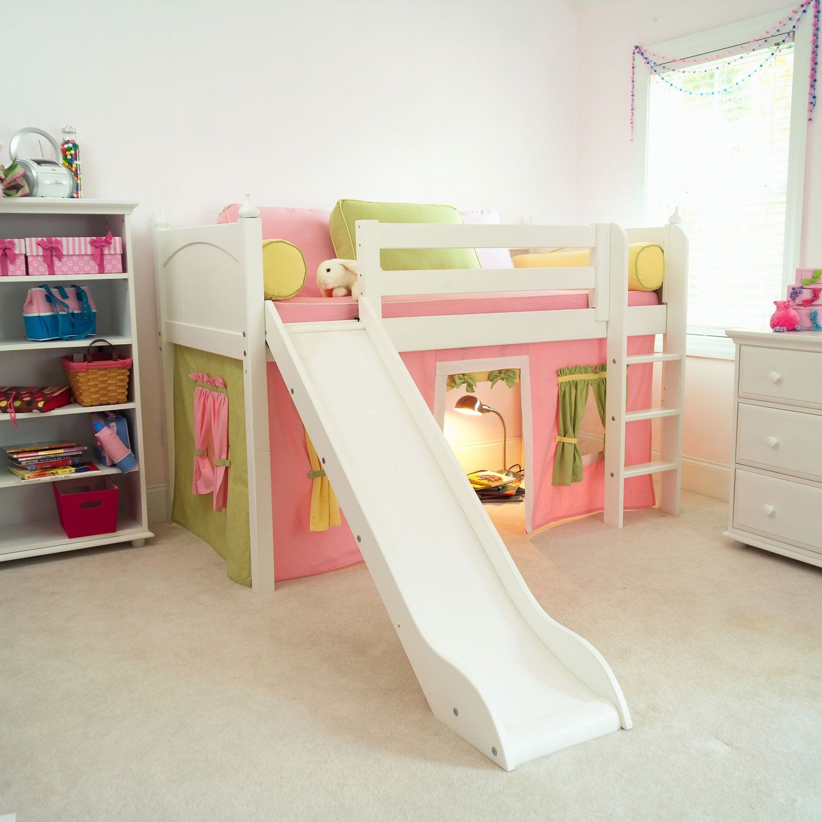Bunk bed with slide ikea & Bunk Bed With Slide And Tent - Foter