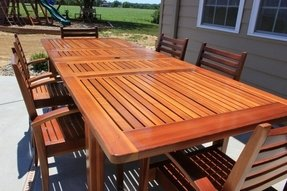 Cedar patio tables 1