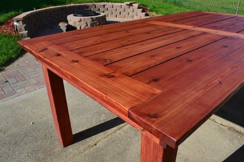Cedar Patio Table 2