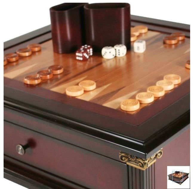 Charmant Chess Checkers Backgammon Table   Ideas On Foter