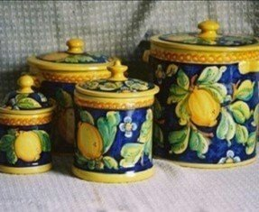 Colored glass kitchen canisters 3
