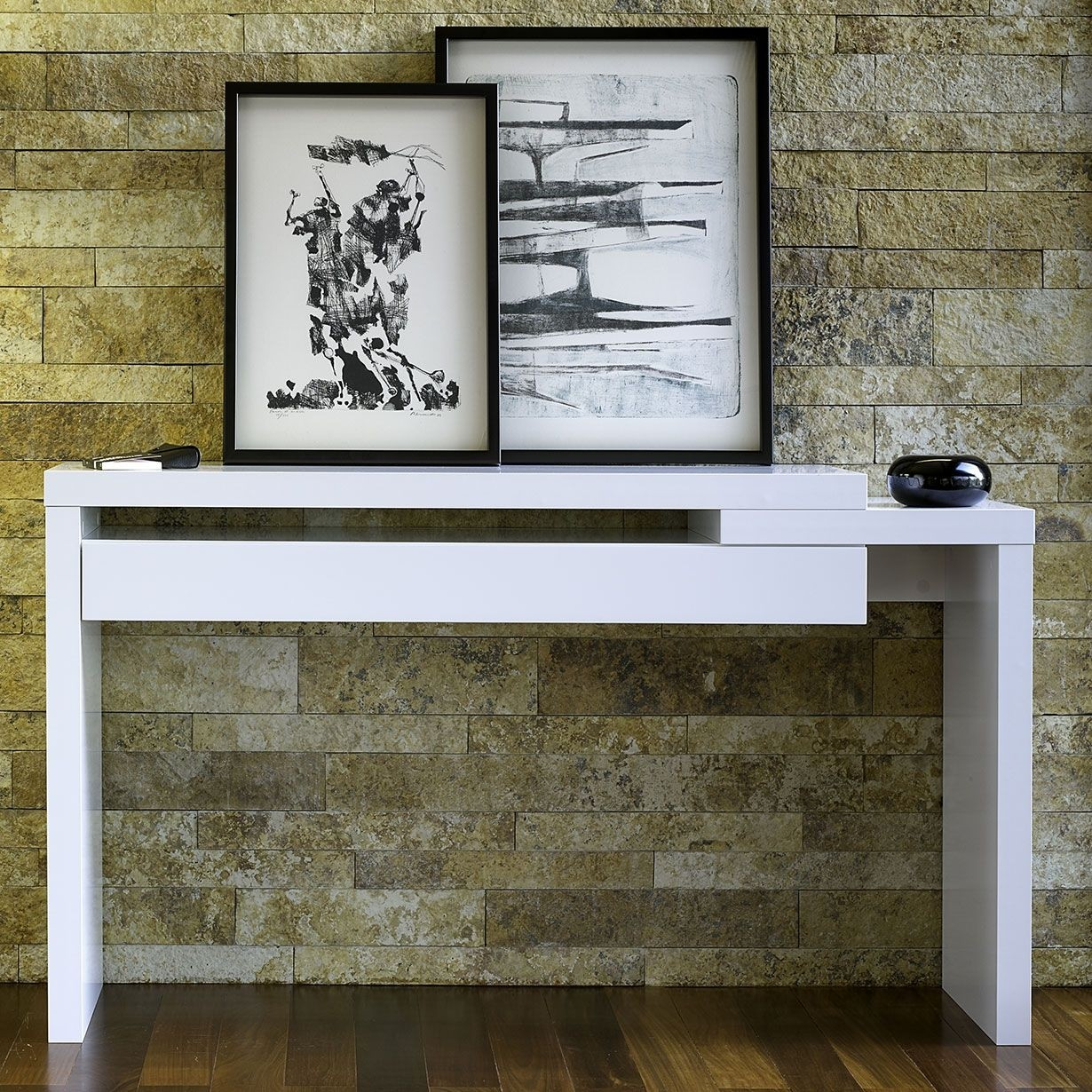 Delicieux Contemporary Console Table With Drawers 2