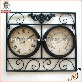 Decorative outdoor clock and thermometer set 2