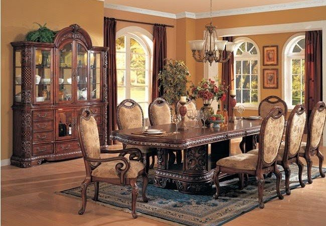 Perfect European Style Dining Room Sets