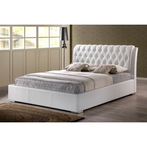 Faux leather bed king size