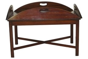 Folding butlers tray table 1