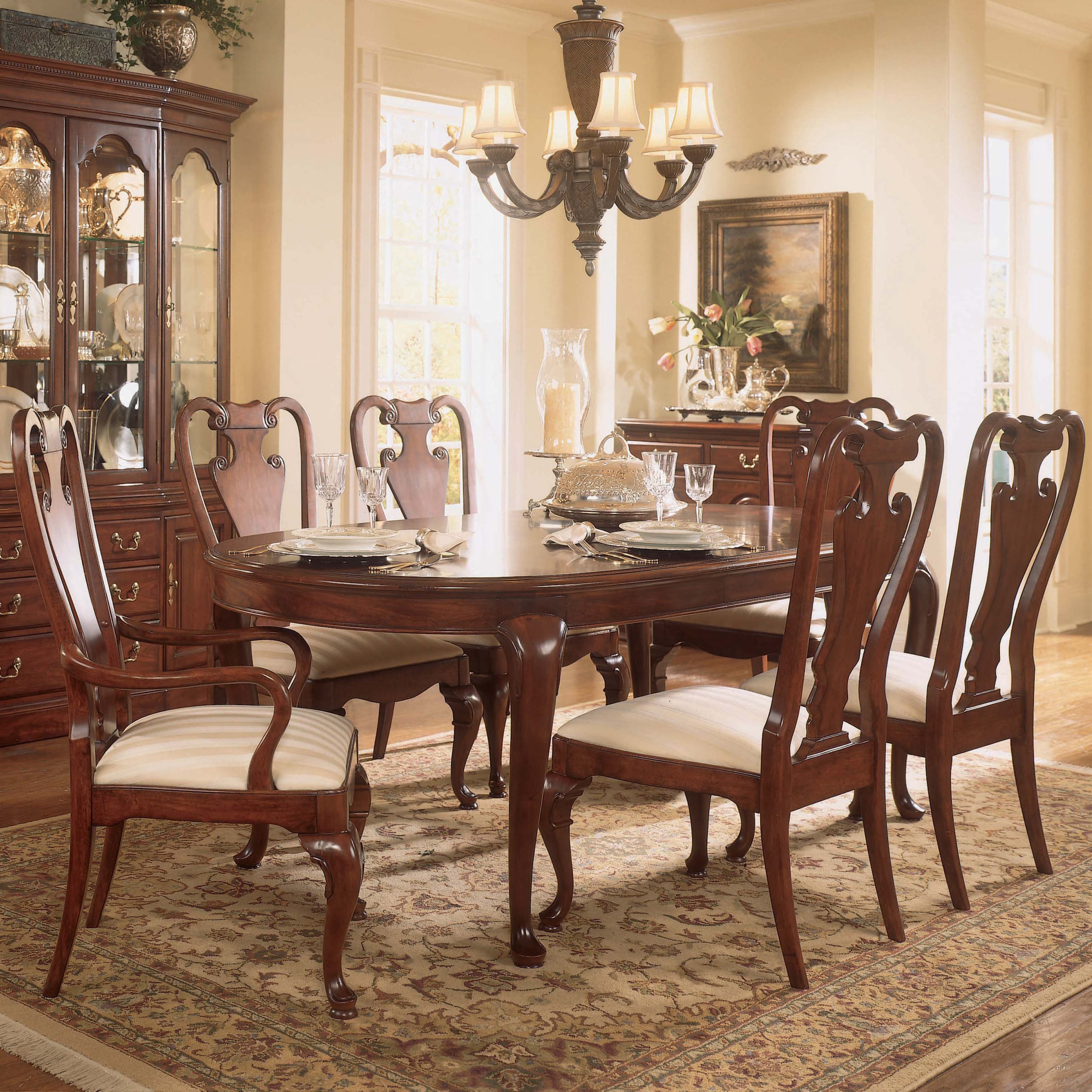 Formal Cherry Dining Room Sets 13