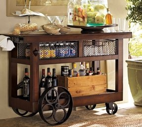 Glascow entertaining bar cart