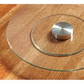 Glass lazy susan for table