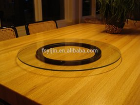 Glass lazy susan turntable 1