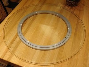 Glass lazy susan turntable