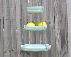 Hanging fruit basket color options made