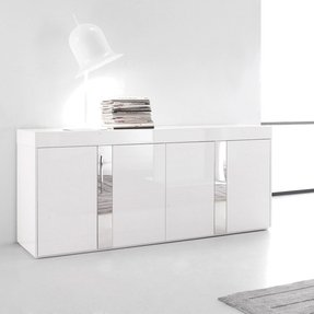 High Gloss White Sideboard