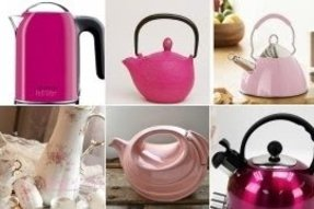 Hot pink tea kettle